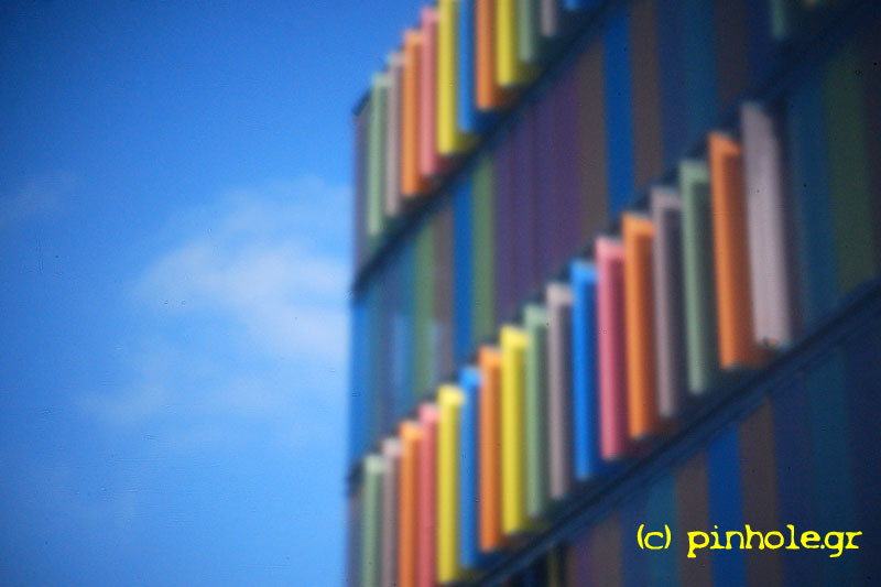Building with colored facade (321)